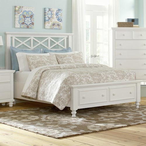 Vaughan Bassett Ellington King Garden Storage Bed with 2 Footboard Drawers