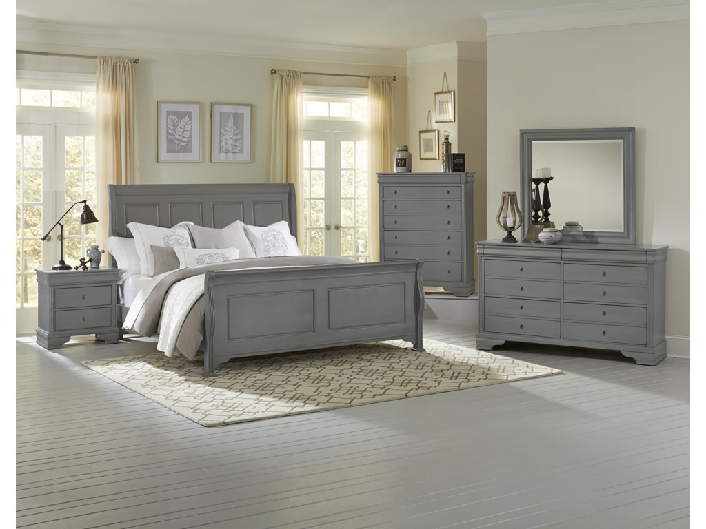 King Size Bed Shown. Full Size Headboard Has 3 Panels.