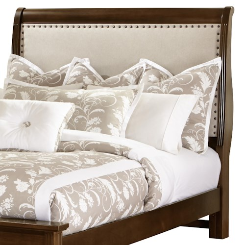 Vaughan Bassett French Market Twin Upholstered Headboard (Linen)