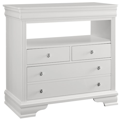 Vaughan Bassett French Market Transitional Media Chest - 3 Drawers