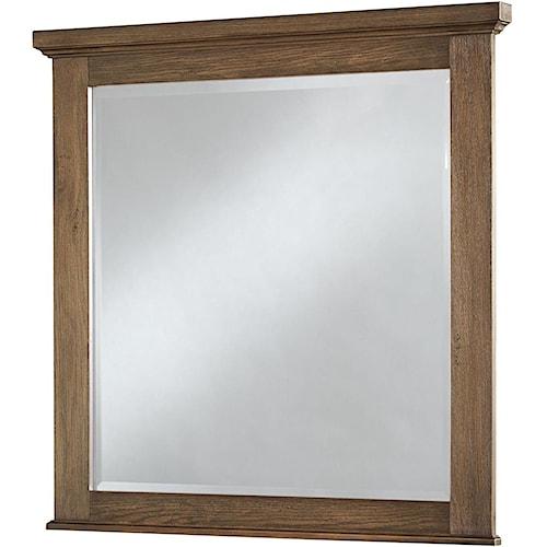 Vaughan Bassett Cassell Park Landscape Mirror with Wood Frame