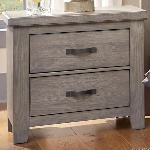 Vaughan Bassett Gramercy Park Night Stand with Two Self-Closing Drawers
