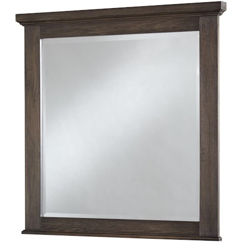 Vaughan Bassett Cassell Park Landscape Mirror with Wood Frame