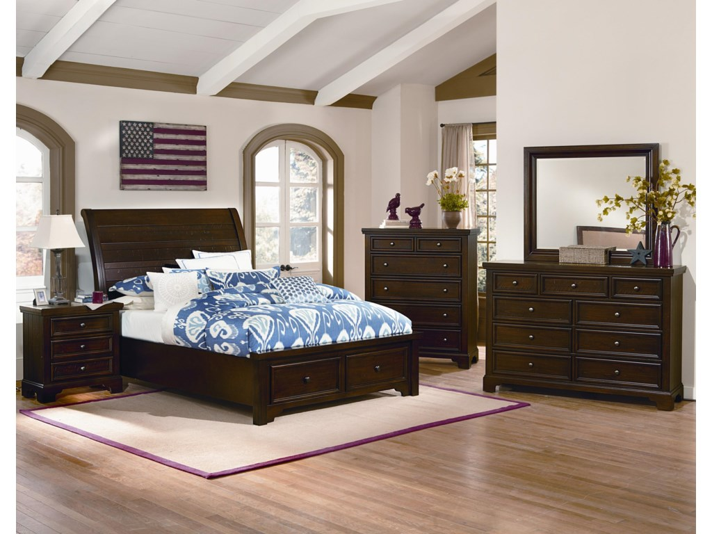 Shown with the Low Profile Sleigh Bed, Nightstand and Chest