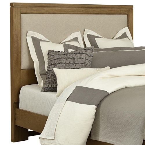 Vaughan Bassett Kismet Queen Upholstered Headboard, Base Cloth Linen