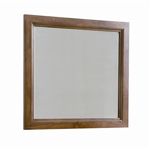 Vaughan Bassett Timber Mill Landscape Mirror With Bevel Glass And Reclaimed Wood Look