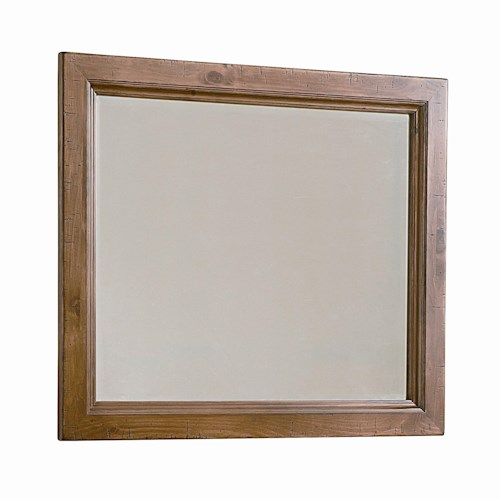 Vaughan Bassett Timber Mill Chesser Mirror With Bevel Glass And Reclaimed Wood Look