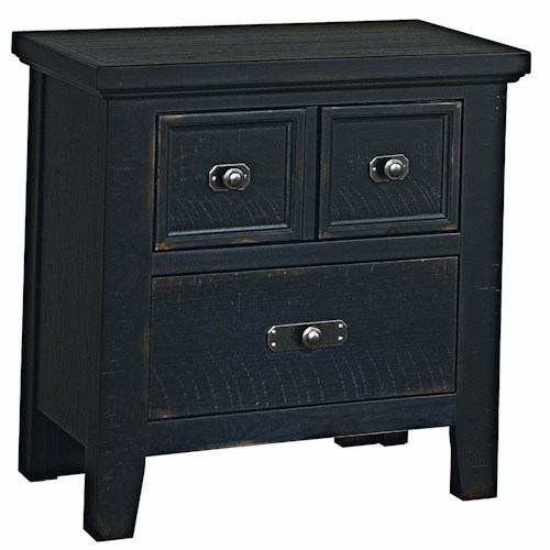 Vaughan Bassett Timber Mill Reclaimed Look Night Stand With 2 Drawers
