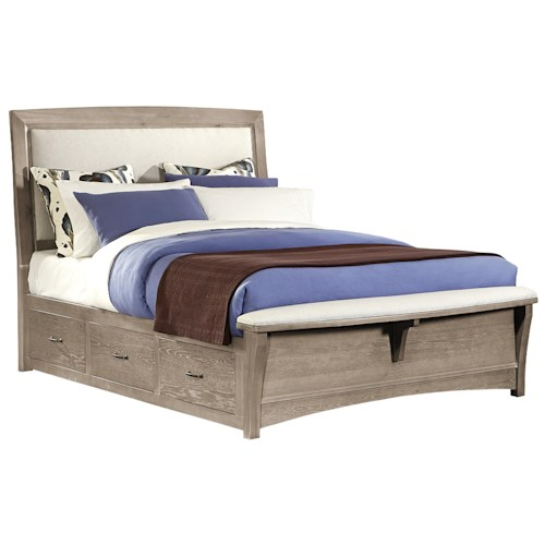 Vaughan Bassett Transitions King Upholstered Bed with 2 Side Storage Units