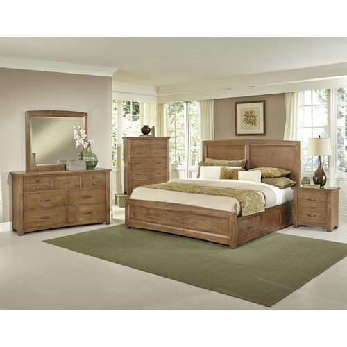 Vaughan Bassett Transitions King Bedroom Group