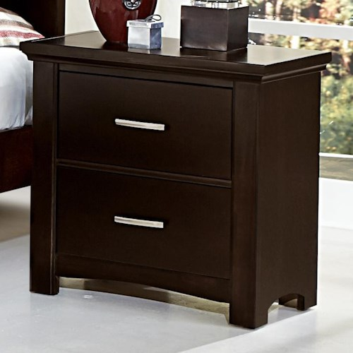 Vaughan Bassett Transitions Night Stand - 2 drawers