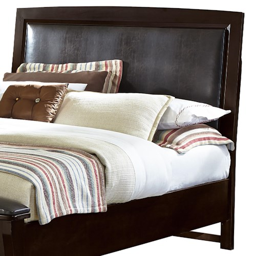 Vaughan Bassett Transitions King/California King Upholstered Headboard (Chocolate Bonded Leather)
