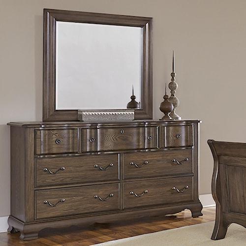 Vaughan Bassett Villa Sophia Dresser & Landscape Mirror