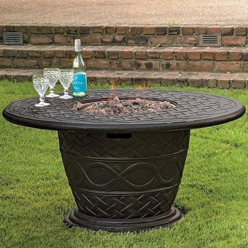 Veranda Classics by Foremost Fire Pits Embrace Gas Fire Pit with Terrafab Top
