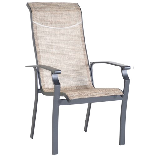 Veranda Classics by Foremost Harrison Sling Dining Arm Chair