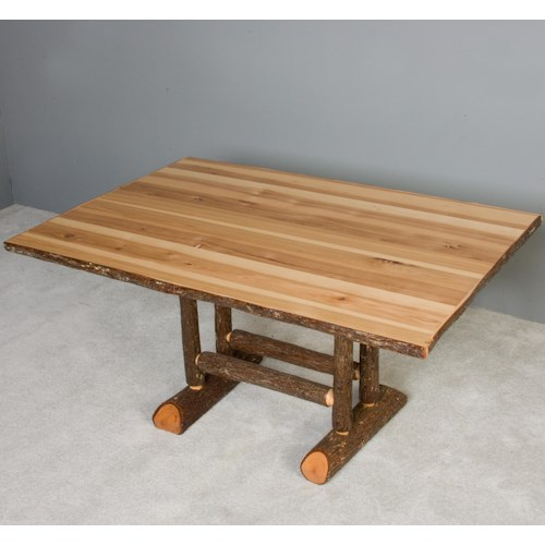 NorthShore by Becker Hickory Rustic Rectangular Solid Hickory Dining Table