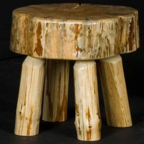 NorthShore by Becker Home Office Mission Rustic Log Sitting Stool