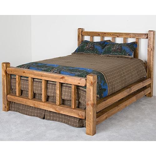NorthShore by Becker Log Furniture King Barnwood Little Jack Bed