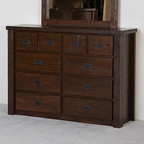 NorthShore by Becker Log Furniture Barnwood Ten Drawer Chesser