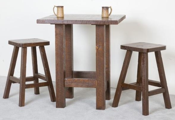 Shown with Barnwood Pub Stools