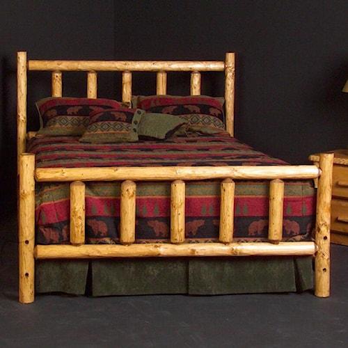 NorthShore by Becker Log Furniture Full Alpine Log Bed