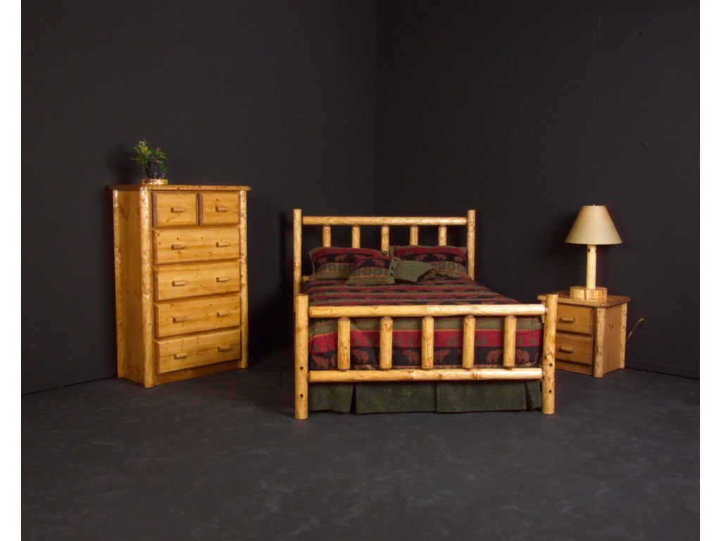 Shown with Chest and Night Stand.  Bed Shown May Not Represent Size Indicated