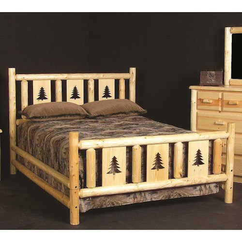 NorthShore by Becker Log Furniture Twin Montana Log Bed