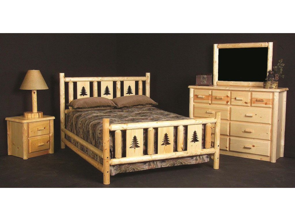 Shown with Night Stand, Dresser, and Mirror.  Bed Shown May Not Represent Size Indicated