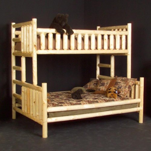 NorthShore by Becker Log Furniture Twin/Queen Bunk Bed