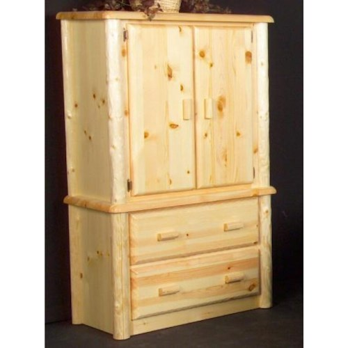 NorthShore by Becker Log Furniture Northwood Two Drawer Armoire