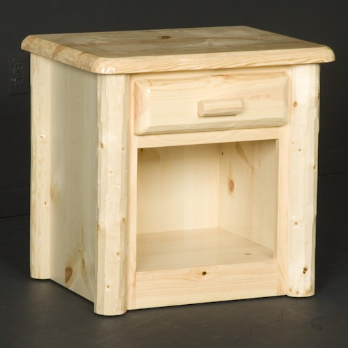 NorthShore by Becker Log Furniture Northwoods 1 Drawer Nightstand