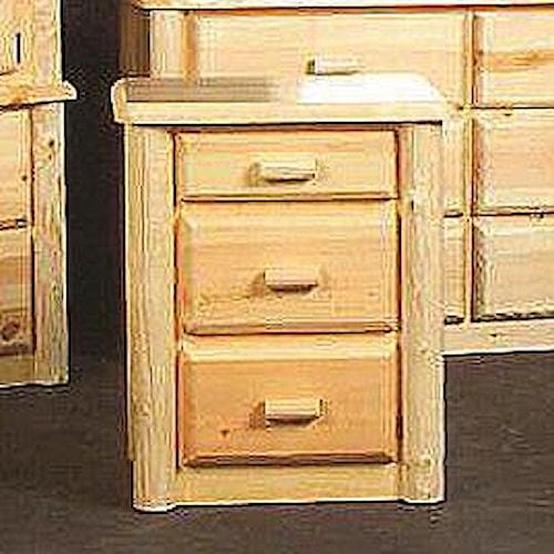 NorthShore by Becker Log Furniture Northwoods Three Drawer Nightstand