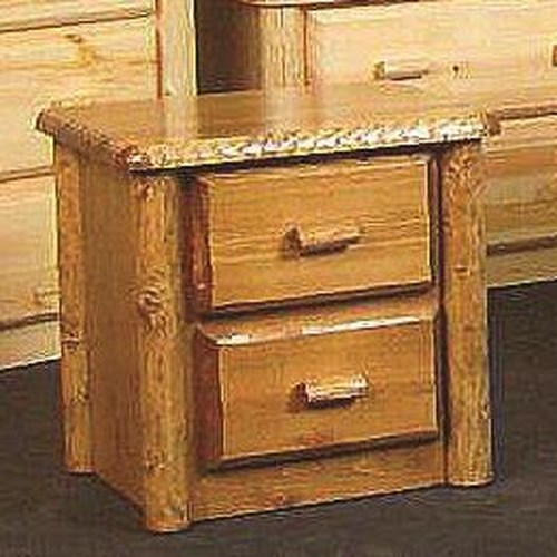 NorthShore by Becker Log Furniture Northwoods Two Drawer Nightstand