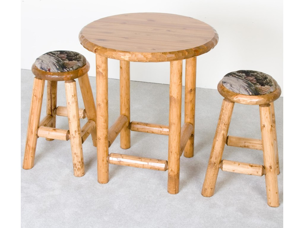 Shown with Upholstered Stools
