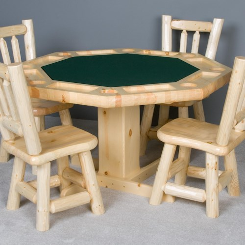 NorthShore by Becker Log Furniture Rustic Log Poker Table
