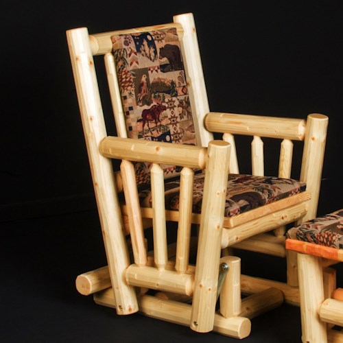 NorthShore by Becker Motion Rustic Log Glider Rocker
