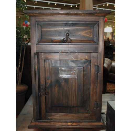 Vintage Accents Dark Stain Accent Table