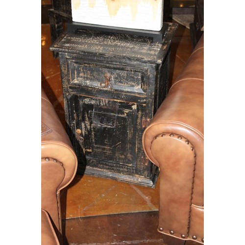 Vintage Accents Scraped Black Accent Table