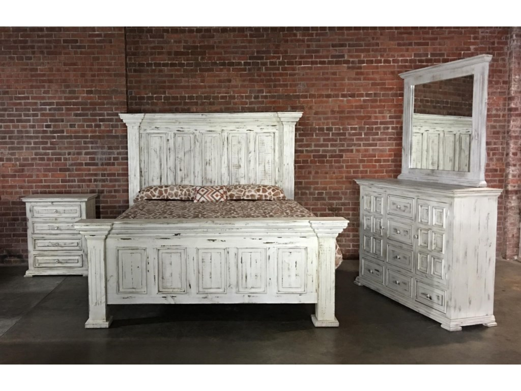 Mirror In The Bedroom Vintage Chalet King Nero White Bed Dresser Mirror Great