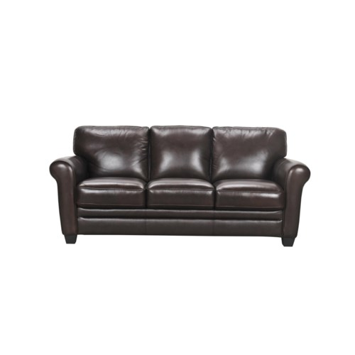 7203 Three Piece Sectional Sofa By Futura Leather: Violino 30960 Leather Sofa With Rolled Arms