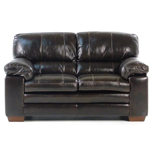 Madison Manor Thompson Leather Loveseat