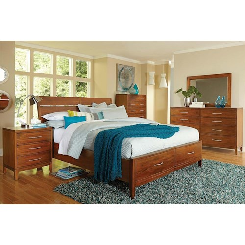Madison Manor Bostonian 4-Piece Queen Storage Bedroom Set