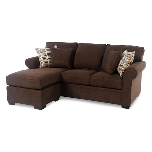 Madison Manor Manor Sleep Queen Sleeper Sectional w/ Reversible Chaise