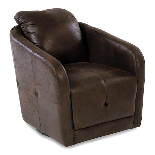 Madison Manor Accent Chairs Swivel Chair w/ Tuft Stitching