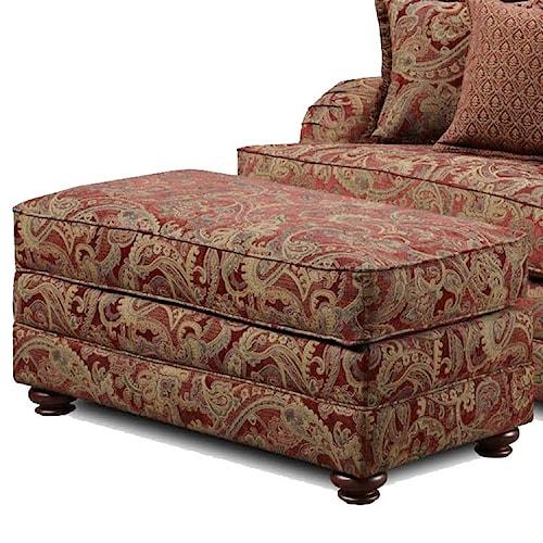 Washington Furniture 1130 Ottoman with Wood Feet