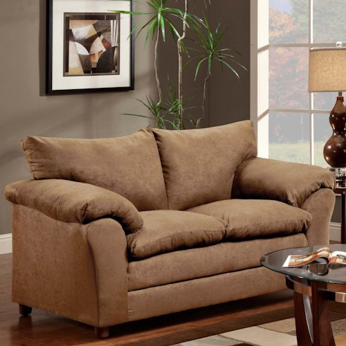 Washington Furniture 1150 Casual Pillow Top Loveseat