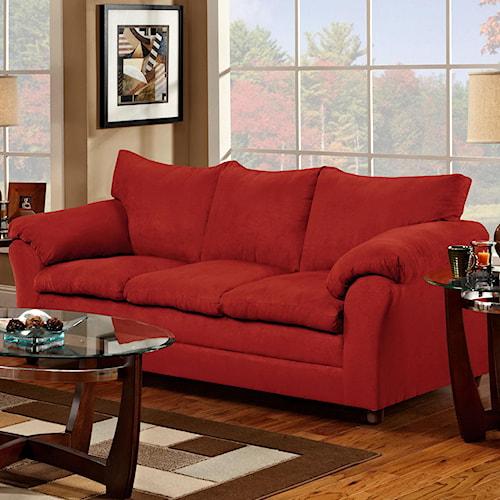 Washington Furniture 1150 Casual Pillow Top Three-Seat Sofa