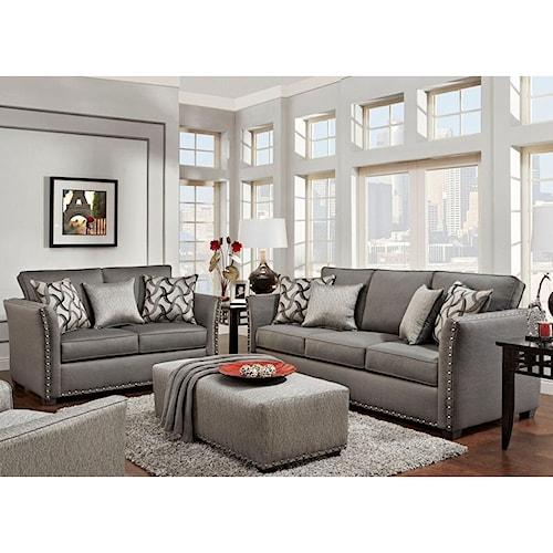 Washington Furniture 1380 Washington Living Room Group