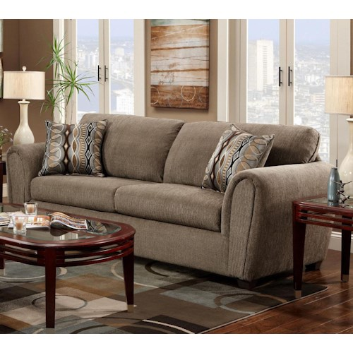 Washington Furniture 1820 Contemporary Ash Stationary Sofa