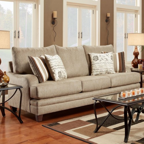 Washington Furniture 2230 Transitional Sofa with Shaped Track Arms